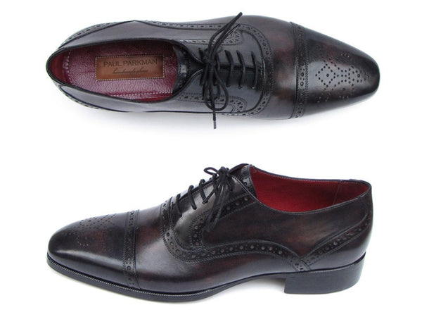 Paul Parkman Captoe Bronze & Black Oxfords - Dudes Boutique - 1