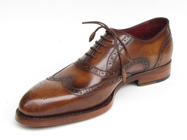 Paul Parkman Wingtip Goodyear Welted Tobacco Oxfords - Dudes Boutique