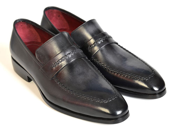 Paul Parkman Gray & Black Loafers - Dudes Boutique - 1