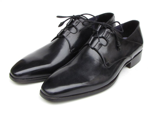 Paul Parkman Ghillie Lacing Plain Toe Black Shoes - Dudes Boutique - 1