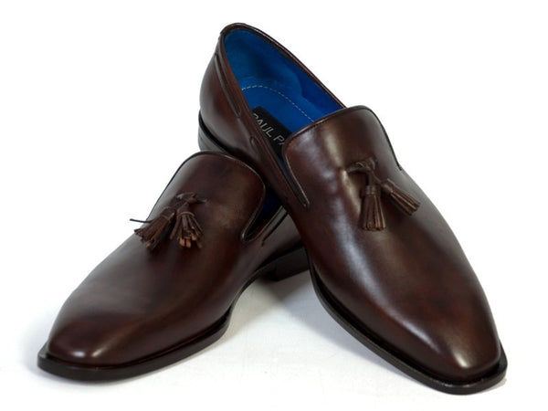 Paul Parkman Tassel Chocolate Leather Sole Leather Upper Loafer - Dudes Boutique - 1