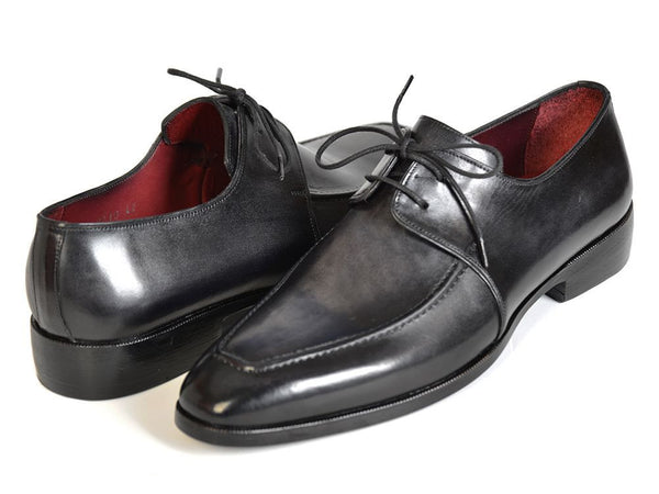 Paul Parkman Gray/Black Apron Derby Shoes - Dudes Boutique - 1