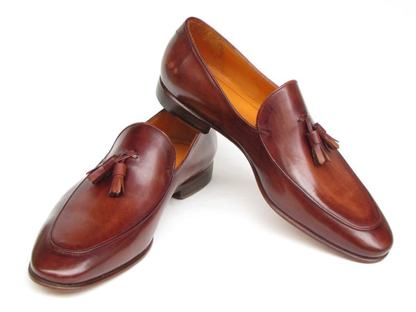 Paul Parkman Tassel Brown Hand Painted Leather Loafer - Dudes Boutique - 1