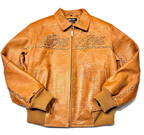 Pelle Pelle 11627 Women's Light Brown Iguana Jacket - Dudes Boutique