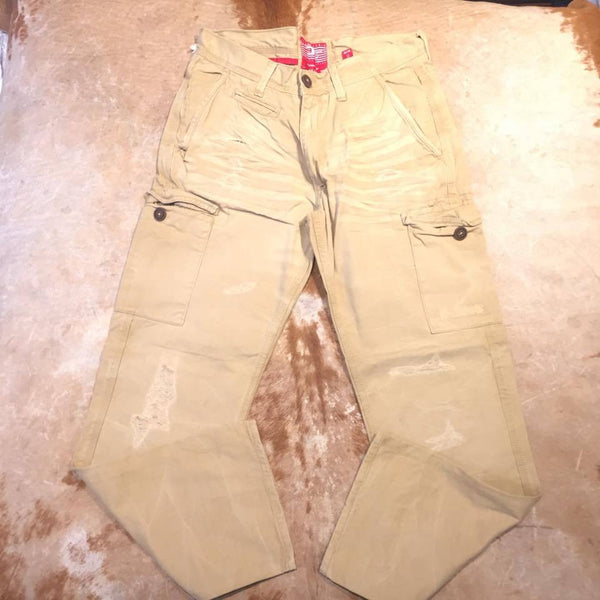 Jordan Craig Distressed Cargo Khaki Pants