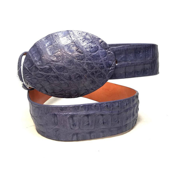 Los Altos Lavender Crocodile Full Skin Belt