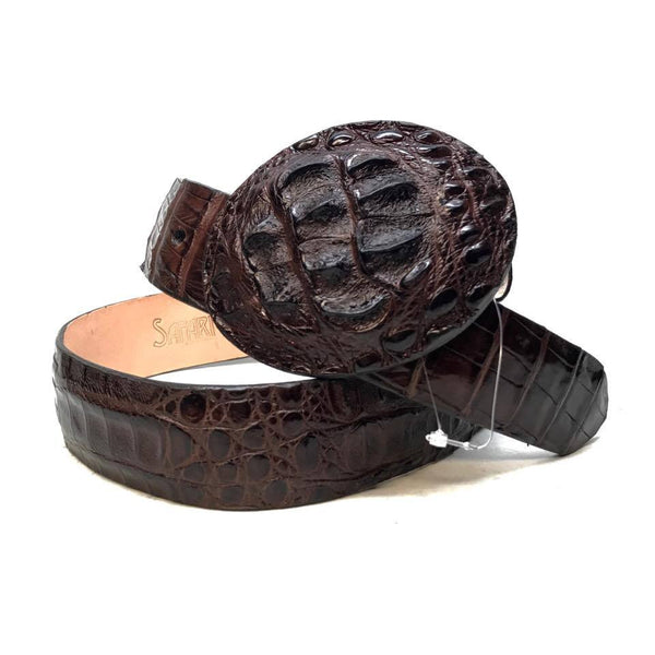 Los Altos Brown Crocodile Full Skin Belt
