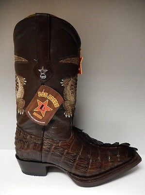 Los Altos Crocodile Tail/Lamb Cowboy Boots - Dudes Boutique