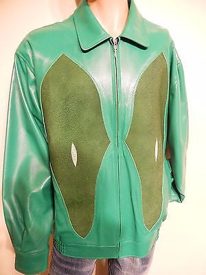 G-Gator Verde Stingray/Lamb Skin Jacket - Dudes Boutique - 1