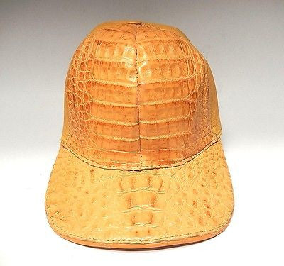 Hand Made Peanut Crocodile & Ostrich Quill Snap-back Hat - Dudes Boutique - 1