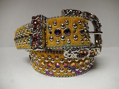 B.B. Simon 'Sunshine' Swarovski Crystal & Pony Hair Belt - Dudes Boutique