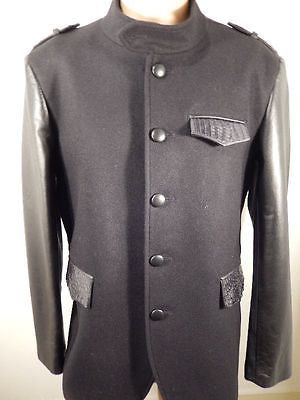 G-Gator - Black Wool & Crocodile Skin Jacket - Dudes Boutique