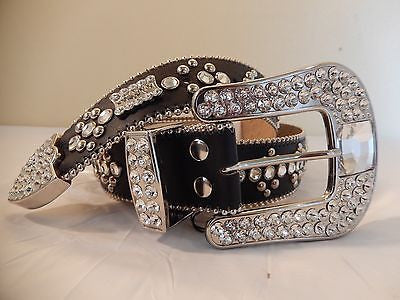 B.B. Simon 'Crystal Cubes' Swarovski Crystal Belt - Dudes Boutique