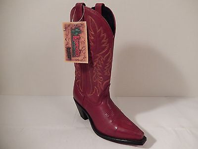 Laredo Red Cowhide Leather Cowboy Boots - Dudes Boutique - 1