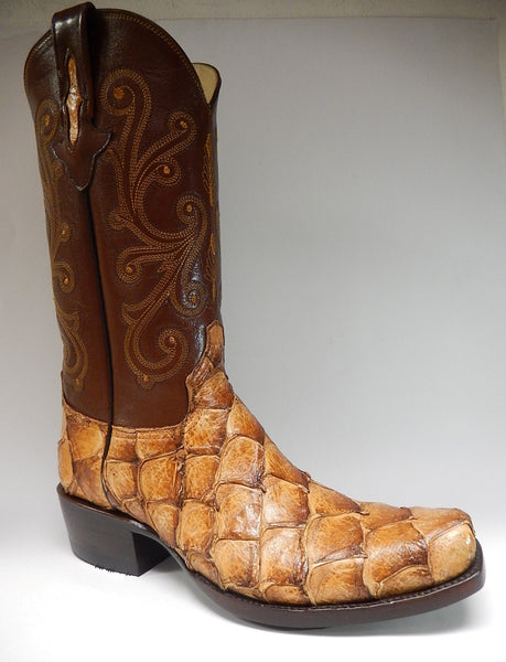 Safari Pirarucu Monster Fish Cowboy Boots - Dudes Boutique - 1