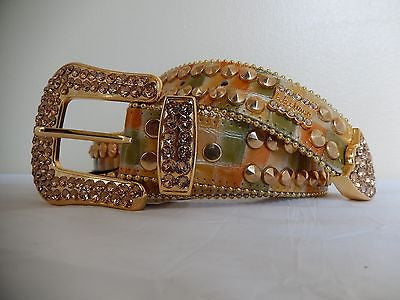 B.B. Simon 'Tangy' Studded Swarovski Crystal Belt - Dudes Boutique