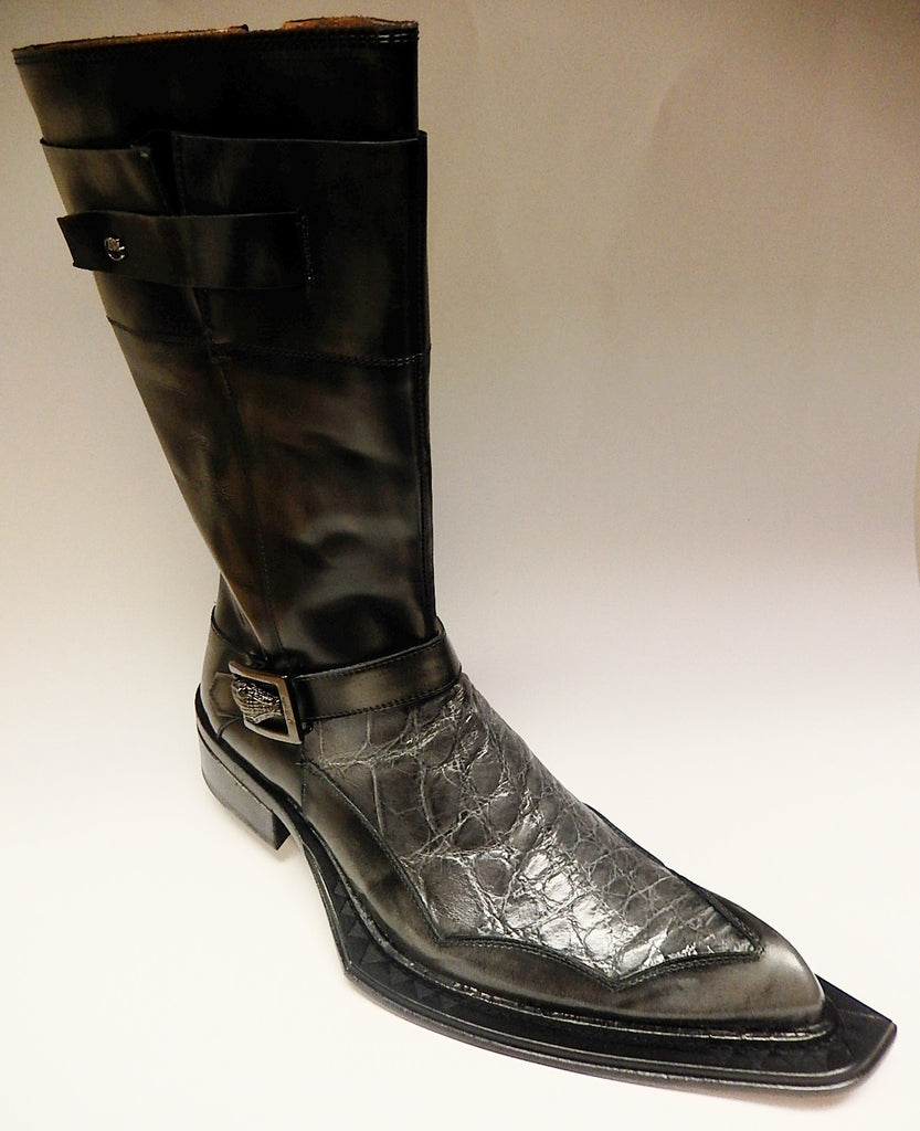Mauri Alligator & Dover Knee Boots 44240 - Dudes Boutique - 1