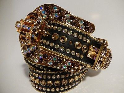 "B.B. Simon ""Crown"" Swarovski Crystal Belt - Dudes Boutique"