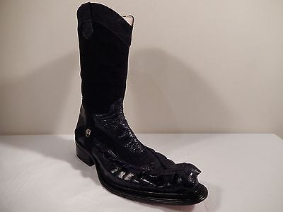 Mauri Ostrich Leg & Horn-back Crocodile Tail Boots - Dudes Boutique - 1