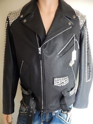 G-Gator Original Studded Crocodile Biker Jacket - Dudes Boutique - 1