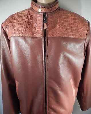 Safari Cognac Horn-back Crocodile/Lamb Skin Jacket - Dudes Boutique - 1