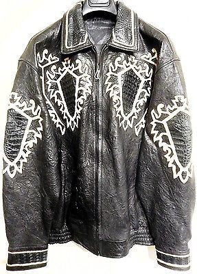Safari Crocodile/Lamb Skin Bomber Jacket - Dudes Boutique - 1