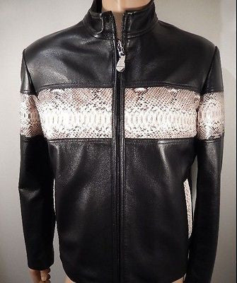 G-Gator Natural Python/Lamb Skin Motorcycle Jacket - Dudes Boutique - 1
