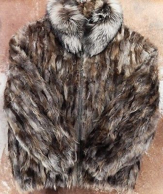 Winter Fur 'Multi-Color' Beaver Fur Coat - Dudes Boutique - 1