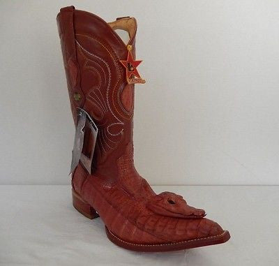 Los Altos Baby Crocodile Head Cowboy Boots *Custom* - Dudes Boutique - 1