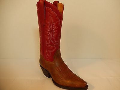 Star Boots Classic Red Leather Cowboy Boots - Dudes Boutique - 1