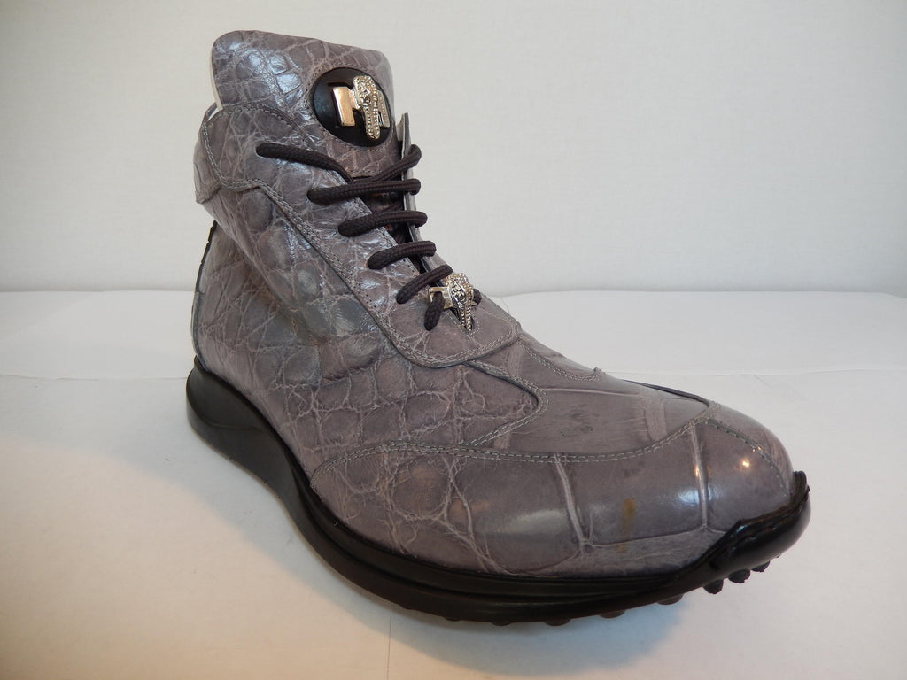 Mauri Hi-top All-Over Alligator Lace Up Sneakers 8611 - Dudes Boutique - 1