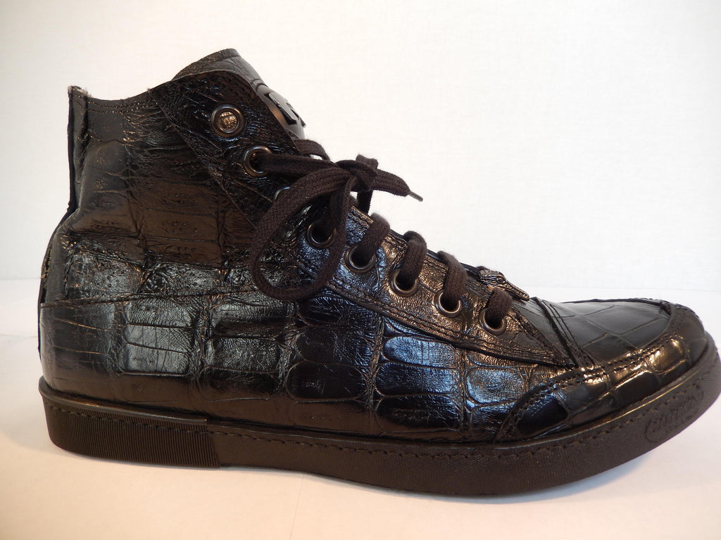 Mauri Hi-top All-Over Alligator Lace Up Sneakers 8886 - Dudes Boutique - 1