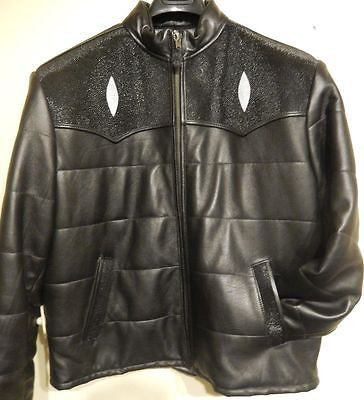 G-Gator Stingray/Lamb Skin Quilted Biker Jacket - Dudes Boutique - 1
