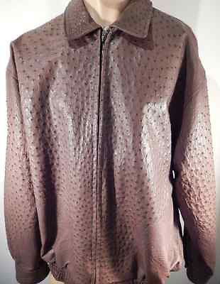 Safari Chocolate All-Over Ostrich Quill Skin Jacket - Dudes Boutique