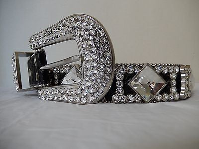 B.B. Simon 'Monster' Crystal & Pony Hair Belt - Dudes Boutique