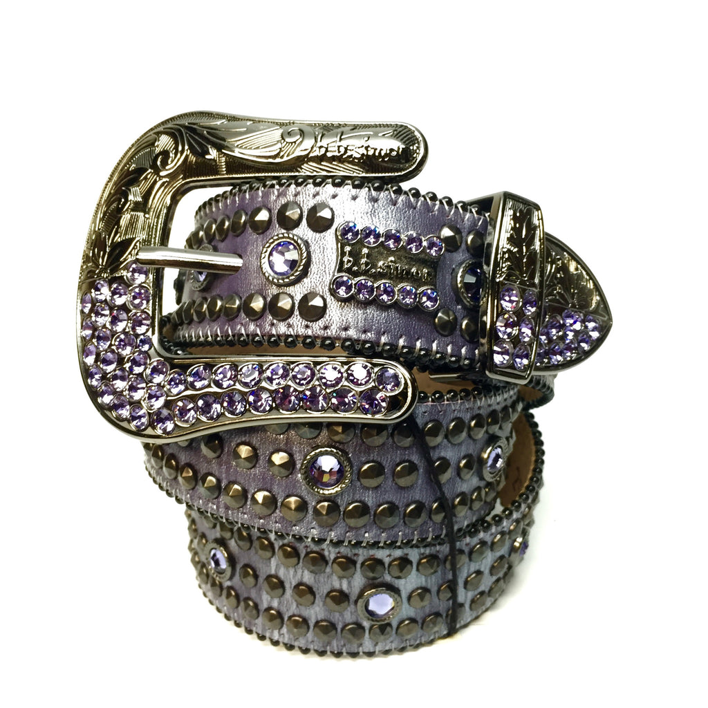B.B. Simon 2552M36 'Purple Urkel' Swarovski Crystal Belt - Dudes Boutique
