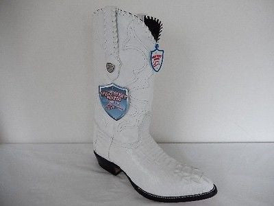 Wild West Boots Horn-back Crocodile Cowboy Boots - Dudes Boutique - 1