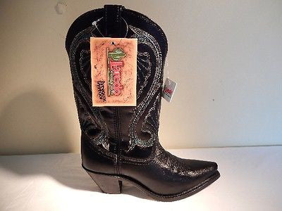 Laredo Black/Green Stitched Calf Cowboy Boots - Dudes Boutique - 1