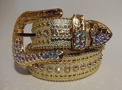 B.B. Simon 'Golden Lizard' Swarovski Crystal Belt - Dudes Boutique