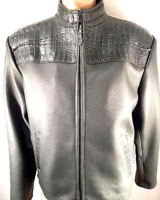 Safari Forest Green Horn-back Crocodile/Lamb Skin Jacket - Dudes Boutique - 1