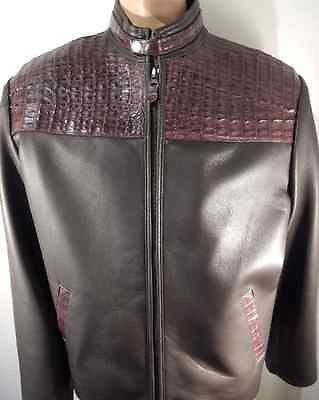 Safari Chocolate Horn-back Crocodile/Lamb Skin Jacket - Dudes Boutique