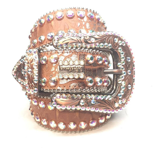 "B.B. Simon ""Bronze Bully"" Swarovski Crystal Belt - Dudes Boutique"