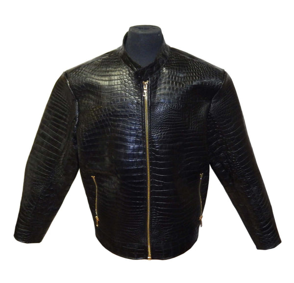 G-Gator - 2020 All-Over Black Alligator Jacket - Dudes Boutique