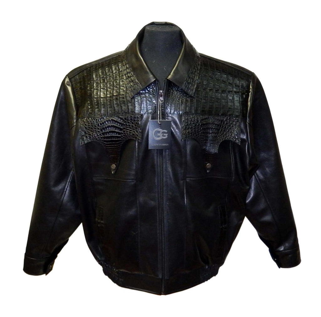G-Gator - 2035 Calf Skin/Ostrich/Alligator Jacket - Dudes Boutique