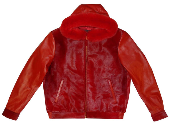 G-Gator - 2054 Hooded Pony Hair/Lambskin Hooded Jacket - Dudes Boutique