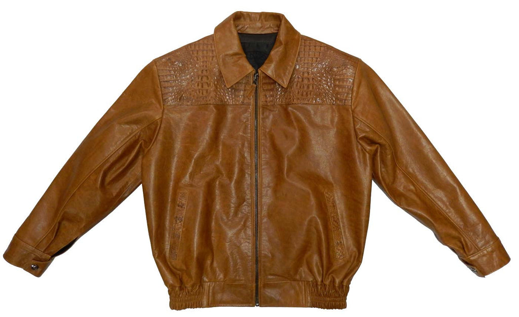 G-Gator - 2055 Crocodile/Calf Skin Leather Jacket - Dudes Boutique