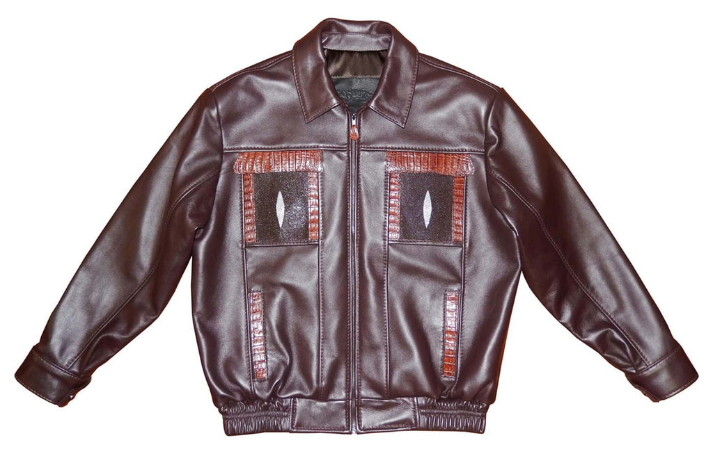 G-Gator - 2070 Lamb Skin/Stingray/Caiman Jacket - Dudes Boutique