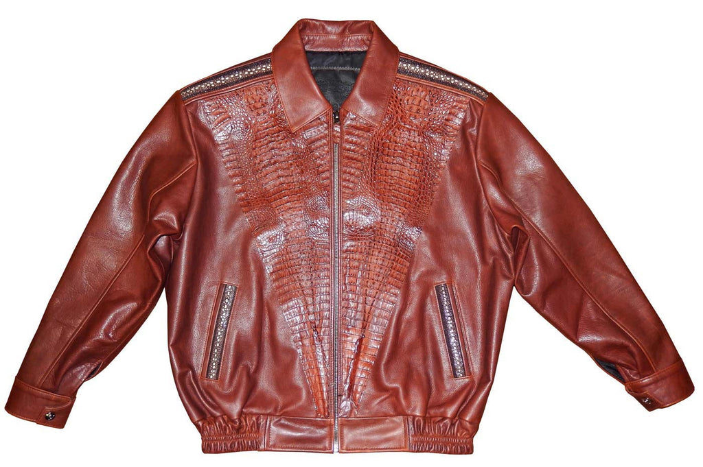 G-Gator - 2088 Lamb Skin/Crocodile/Stingray Jacket - Dudes Boutique