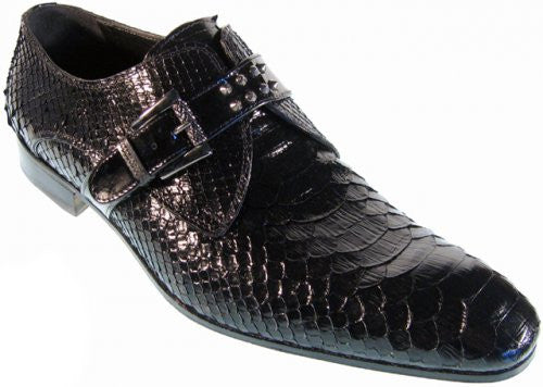"Mauri - ""2103"" Black All-Over Python Shoes - Dudes Boutique"
