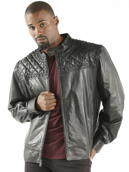 PELLE PELLE 'STUDDED QUILT' BLACK ELENA JACKET - Dudes Boutique